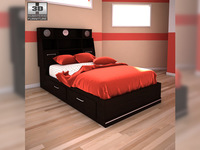 Ashley I-Zone Bookcase bed 3D Model