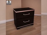 Ashley I-Zone Bookcasel nightstand 3D Model