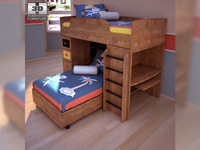 Ashley Alexander Youth Loft bed 3D Model