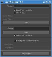 Free copyWeights for Maya 2.0.0 (maya script)