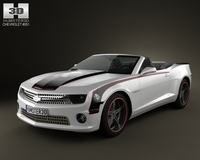Chevrolet Camaro Black Hawks 2011 with HQ Interior 3D Model