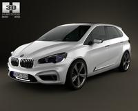 BMW Active Tourer 2012 3D Model