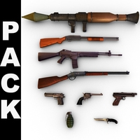 Modern Weapons Pack 3D Model