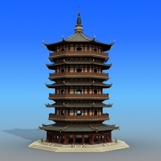 Chinese Architecture 10 3D Model