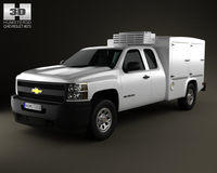 Chevrolet Silverado Hotshot II XL 2011 3D Model
