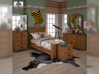 Ashley Camp Huntington Poster Bedroom Set 3D Model