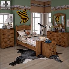 Ashley Camp Huntington Poster Bedroom Set 3D Model