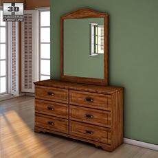 Ashley Camp Huntington Poster Dresser 3D Model