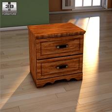 Ashley Camp Huntington Poster Nightstand 3D Model