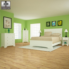 Bedroom Furniture 28 Set 3D Model