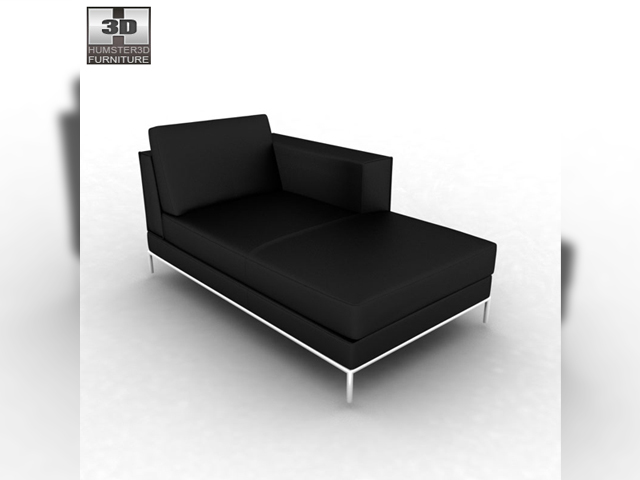 Ikea arild chaise longue 3d model for Chaise longue ikea