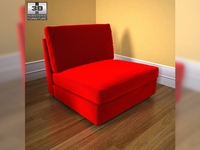 IKEA Kivik One-seat section 3D Model