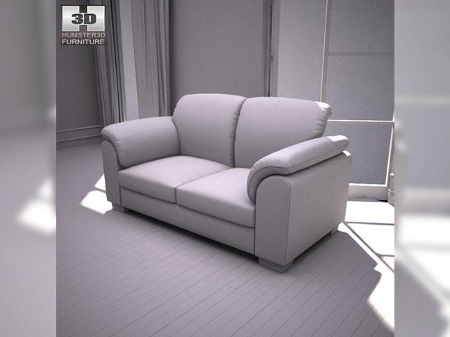 Ikea Tidafors Two Seat Sofa 3d Model