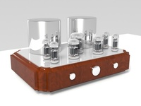 Vacuum tube amplifier 03 3D Model