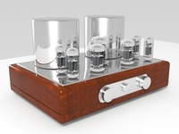Vacuum tube amplifier 04 3D Model