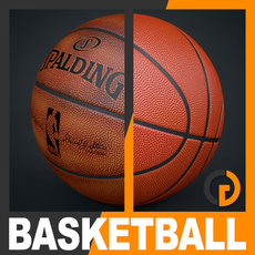 Spalding NBA Official Basketball Game Balls Pack 3D Model