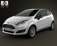 Ford Fiesta hatchback 3-door (EU) 2013 3D Model