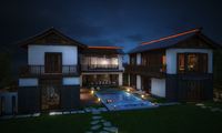 An East Asia Style Villa 3D Model