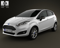 Ford Fiesta hatchback 5-door (EU) 2013 3D Model