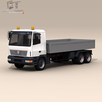 Truck low boards deck 3D Model