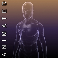 Human body - silhouette of a Male 3D Model