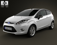 Ford Fiesta hatchback 3-door (EU) 2012 3D Model