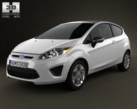 Ford Fiesta hatchback 3-door (US) 2012 3D Model