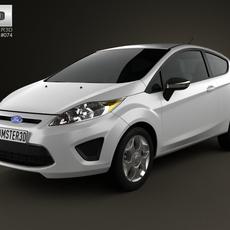 Ford Fiesta hatchback 3-door (US) 2012 3D Model