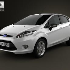 Ford Fiesta hatchback 5-door (EU) 2012 3D Model