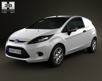 Ford Fiesta Van 2012 3D Model