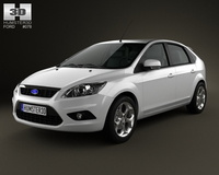 Ford Focus hatchback 5-door 2009 3D Model