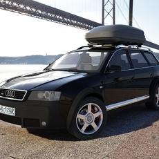 Audi A6 Allroad Quattro with Roof Box 3D Model