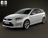 Ford Mondeo Turnier Titanium X Mk4 2012 3D Model