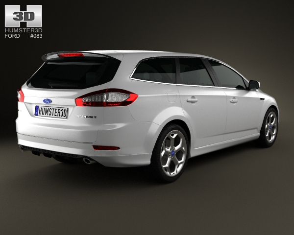 ford mondeo turnier titanium x mk4 2012 3d model. Black Bedroom Furniture Sets. Home Design Ideas