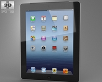 Apple iPad 4 Cellular 3D Model