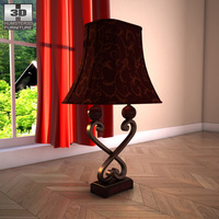 Ashley Key Town - Truffle Table Lamp 3D Model