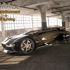 Garage Rendering Environment 3D Model