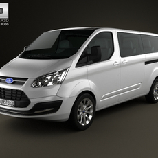 Ford Tourneo Custom LWB 2013 3D Model