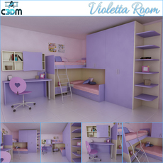Violetta Kids / Children Room 3D Model