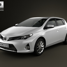 Toyota Auris hatchback 5-door 2013 3D Model