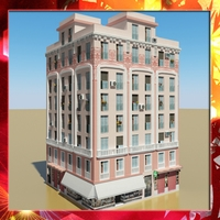 Photorealistic Low Poly Building 20 3D Model