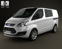 Ford Transit Custom Crew Van SWB 2013 3D Model