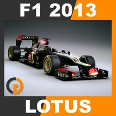 F1 2013 Lotus E21 - Lotus F1 Team 3D Model