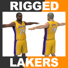 Rigged Basketball Player - Los Angeles Lakers 3D Model