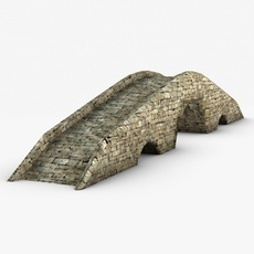 Low Poly Stone bridge 3D Model