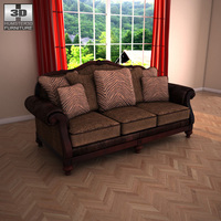 Ashley Key Town Sofa 3D Model