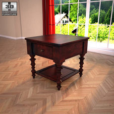 Ashley Key Town - Truffle Table 3D Model