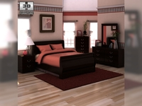 Ashley Huey Vineyard Sleigh Bedroom Set 3D Model