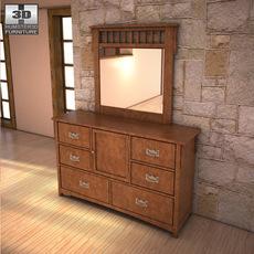 Ashley Colter Dresser & Mirror 3D Model