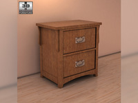 Ashley Colter Nightstand 3D Model